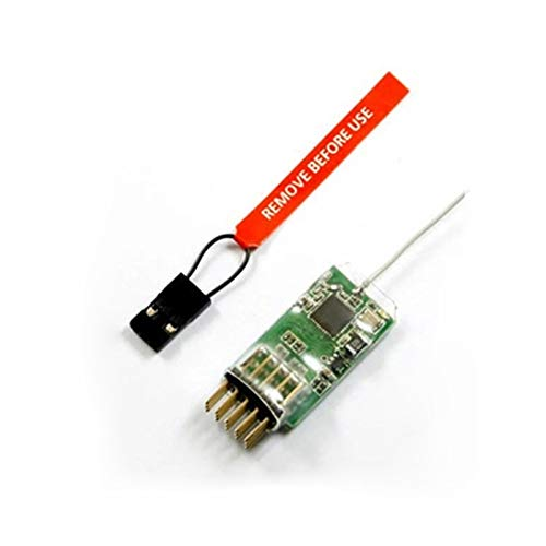 XBERSTAR 4100E 2.4G 4-Channel 4 Channels Micro Receiver for JR / SPEKTRUM DSM2 / DSMX ()