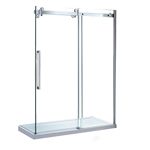 Ove decors sierra tempered clear glass shower kit with glass ove decors sierra tempered clear glass shower kit with glass panels and base 60 planetlyrics Image collections