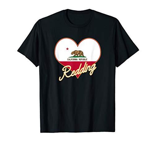 Redding CA California State Flag Heart Hometown Souvenir ()