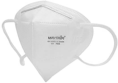 Mayfair N95 5 Layer with Nose Pin, Made in India (Pack of 5, Earloop)