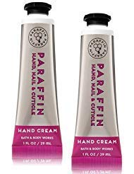 Bath and Body Works 2 Pack Paraffin Hand, Nail & Cuticle Hand Cream 1 Oz.