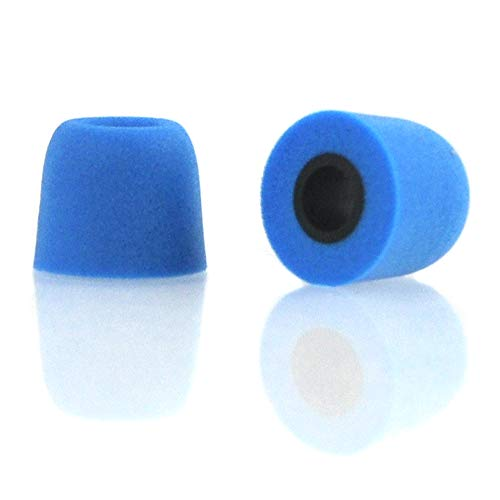 Simoutal Earphone Tips Replacement 6 Pairs Memory Foam Anti-Slip Earphone Sleeves T-400 4.9mm Earbud Tips Noise Cancelling Medium Size Sponge Cover (Blue)