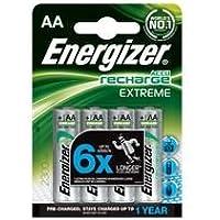 Energizer AA-HR6, Batería recargable, Plateado, pack de 4
