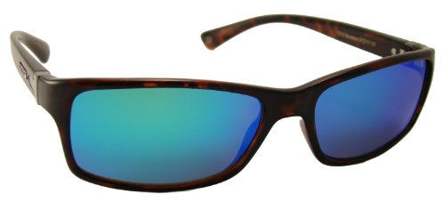 TOP DECK Topsail Tortoise Grilamid Full Rim Frame and Revo Blue Mirror Lens - Revo Sunglases