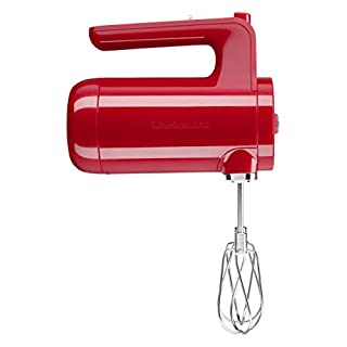 KitchenAid KHMB732PA Cordless Hand Mixer, 7 Speed, Passion Red