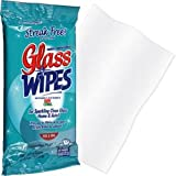 New Trademark 25 Magic Blue Streak Free Glass Wipes Re-Sealable Peel And Seal Pouch Safe For Windows