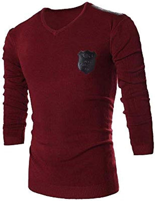 Męski sweter dziergany bluza koszulka jesień zima moda długi rękaw prosty styl sweter V wycięcie normalne worki topy gÓrne części: Odzież