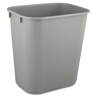 Rubbermaid Commercial Deskside Trash Can, 3 Gallon, Gray, FG295500GRAY (Rubbermaid Containers Waste)