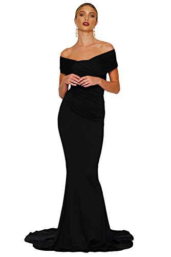 long black fitted maternity dress - 7
