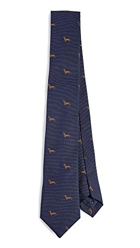 Paul Smith Men's Dachshund Tie, Navy, Blue, Print,, used for sale  Delivered anywhere in USA