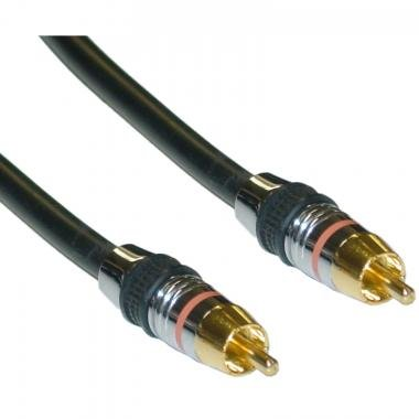 CableWholesale 12-Feet Premium Grade 24K Gold Digital Coaxial RCA 75 Ohm Cable (10R4-11112)
