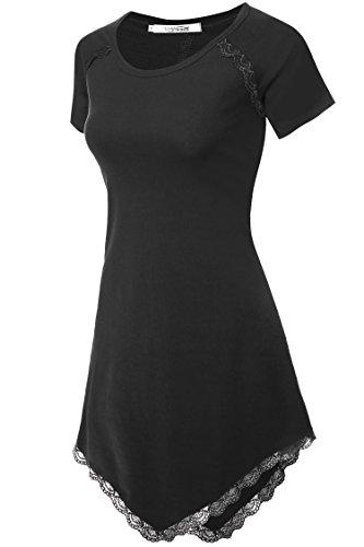 Meaneor Womens Shirts Asymmetrical Sleeve