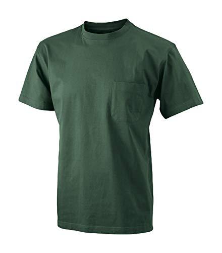 hombre pecho Camiseta en de con el oscuro bolsillo verde wBqBOYa