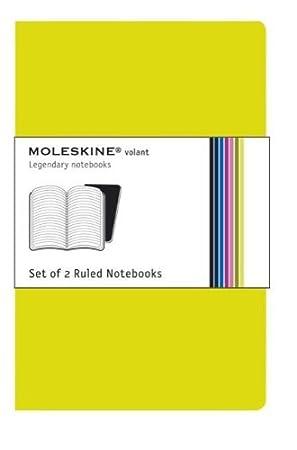 Moleskine Carnet Volant lign/é Format de poche Set de 2 pi/èces Noir Couverture souple 9 x 14 cm