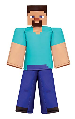 Disguise Minecraft Prestige Steve Outfit Funny Theme Child Halloween Costume, Child M (7-8)