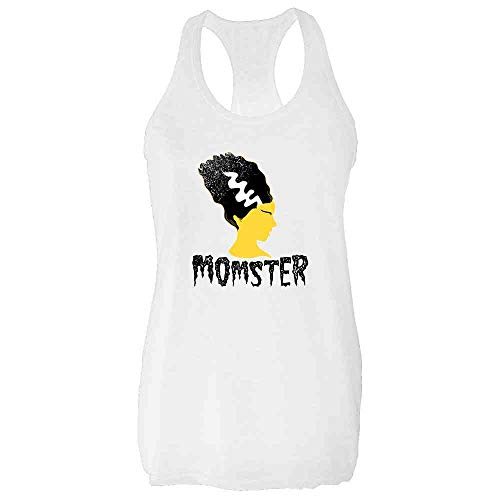 Pop Threads Momster Mom Monster Halloween Fall Costume Funny White 2XL Womens Tank Top ()