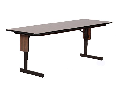 Correll SPA2460PX-01 Adjustable Height Folding Seminar Table with Panel Leg, Rectangular Top, 24