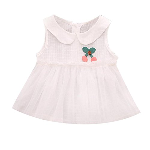 GBSELL Summer Toddler Baby Kids Girl Sweet Cute Tutu Dress Clothes (White, 12-18 Month) -