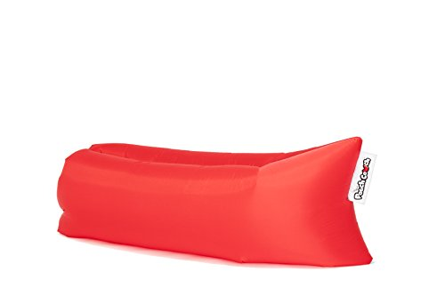 The Official Pouch Couch As Seen On TV Inflatable Air Lounger, Red