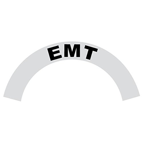 EMT - Reflective Standard Helmet Black Crescent Decal