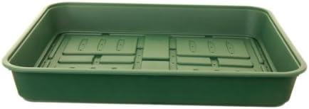 Bandeja de cultivo Whitefurz, plástico, verde bosque, 52 cm.
