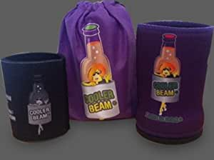 The Cooler Torch TM The LED Flashlight Beverage Can Bottle Cooler Torch Light (Purple) Female Designed Flashlight, Water Bottle Accessory - Great for Your Gift Baskets.