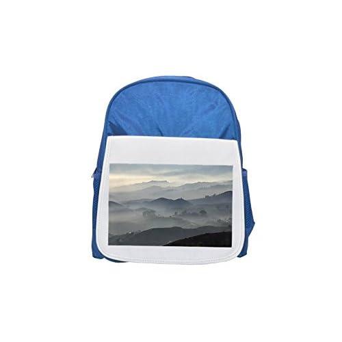 Mijas Andalusien Spanien mochila infantil estampada azul, mochilas lindas, mochilas pequeñas, lindas mochilas negras, mochila negra, mochilas de moda, grandes mochilas de moda, mochila negra de moda