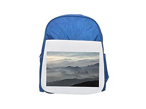 Mijas Andalusien Spanien mochila infantil estampada azul, mochilas lindas, mochilas pequeñas, lindas mochilas