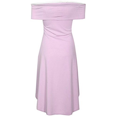 paule Solide Sheer Off de Robe Womens Party Vacances Violet Dames Ball Jupe Robe SMILEQ Mini pqRXfw