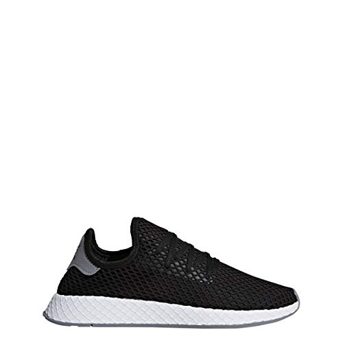 (adidas Men's Originals DEERUPT Runner Shoes, Black/White, Size 9)