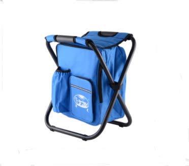 Bjzxz 折りたたみスツール ポータブルアイスバッグスツール 断熱バッグ付き 釣りスツール ビーチチェア ライト アウトドア 冷蔵庫 スツールチェア  ブルー B07MZT3B89