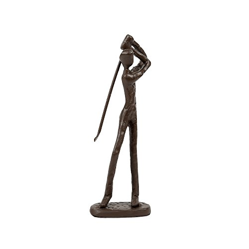 CTG, 2.5 x 7.25 x 1.25 inches, Bronze-Look Golfer Sculpture, Brown
