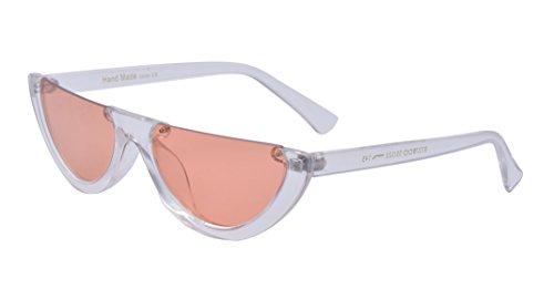 Kelens Retro Clout Goggles Half Frame Color Tinted Lens Cat Eye - Frame Sunglasses Half
