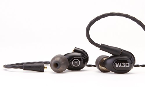 Westone W30 Triple-Driver True-Fit Earphones with MMCX Audio Cable and 3 Button MFi Cable with Microphone by Westone