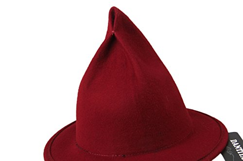 6bc0fc1a52f Dantiya Women s Wool Felt Candy Colored Sharp Pointed Witch Hat