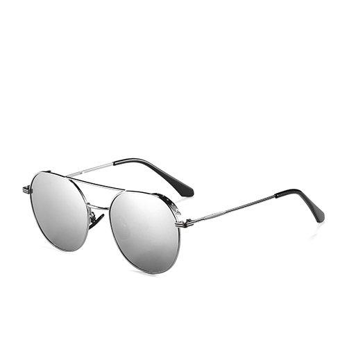 Espejo para Aviador Pistola Gafas Gafas Viaje de de Espejo la de Sol C2 Hombres Gafas de de Sunglasses polarizadas Metal Gun C2 de los Bastidor Mirror Unisex Guía TL Cxw4vqBX6