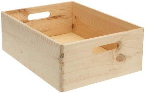 Zeller 13145 - Cajón multiusos de madera blanda conífera, 40 x 30 x 15 cm: Amazon.es: Hogar
