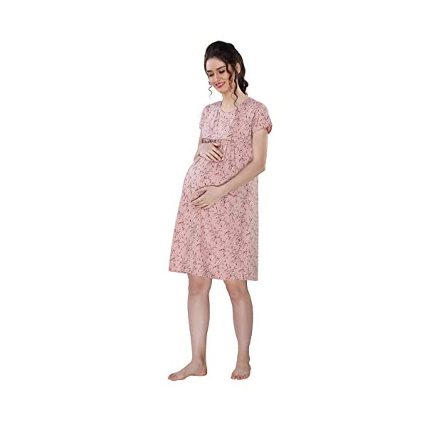 Best Maternity Nursing Printed Nighty With Zip Online India