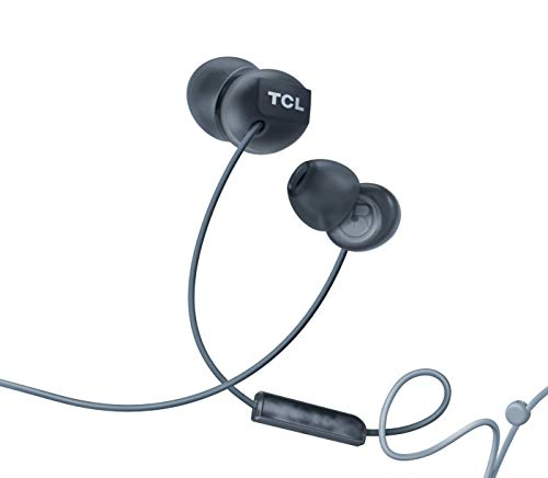 TCL SOCL300 in-Ear Earbud Noise Isolating Wired Headphones with Built-in Mic - Phantom Black