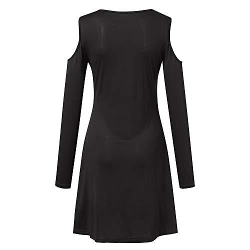 Automne Femme Pullover Hiver Top Sweatshirt Chemisier Cebbay Manteau et Tunique Shirt Manche Longue Froid Noir Robe T Chic Blouse Haut Sweat Chaud Accueil Pull Veste qEF7T