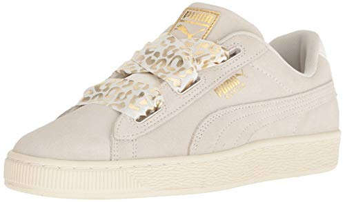 PUMA Baby Suede Heart Kids Sneaker, Whisper White Team Gold, 9 M US Toddler ()