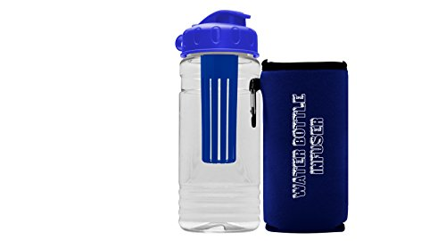 Premium Fruit Infuser Water Bottle - Great Gifts - Multiple Colors - BPA Free - Insulated Infusion - Includes Koozie - Leak Proof - USA - Day For Nerd What To Wear