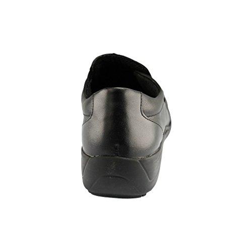 In Casual D0525 Leather Women's Schwarz Slip On Remonte Shoe FxAgnT7H