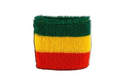 Schweißband Motiv Fahne / Flagge Äthiopien ohne Wappen, Rasta + gratis Aufkleber, Flaggenfritze® Flaggenfritze®