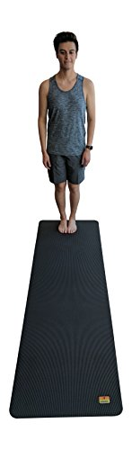 Yoga Mat and Stretching Mat – 84″ X 27″ x 7mm Thick Anti-Tear Non Slip Exercise Mat Extra Long 7 Feet Memory Foam. Yoga Mats and Fitness Mat For Home Gym Flooring – Light Cardio Mat Used Without Shoes