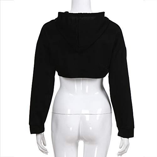 Capuche Shirt Mode Sweat Beikoard T à La pour Sweat Mode Shirt à à Femmes Noir Capuche Hors Creux Short Femmes Tops Shirt T 7xwqdx6