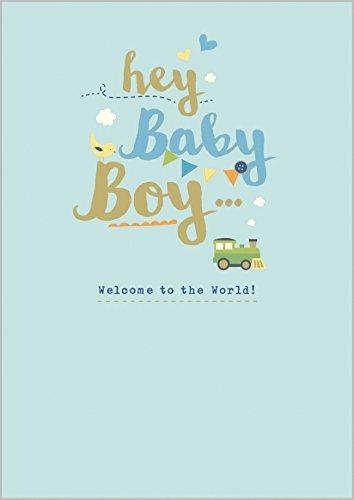 Tarjeta de felicitación para bebé con Texto en inglés Hey ...