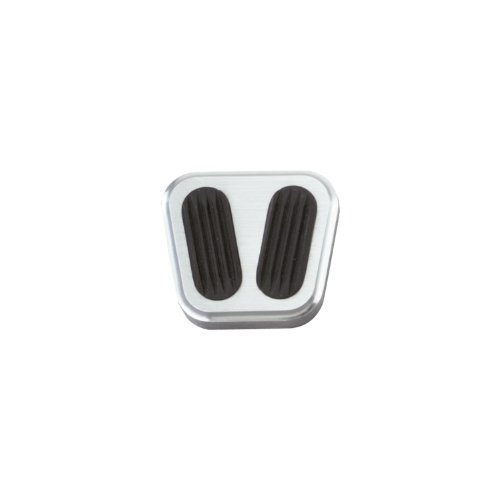 Lokar BAG-6088 Billet Aluminum Emergency Brake Pad with Rubber ()