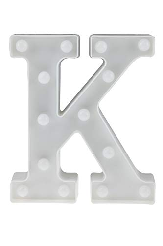 Clever Creations LED Marquee Letter Sign   Perfect Decorations for Any Event   Great for Weddings, Birthdays, Home   Battery Operated   DIY Your Own Words   White K Marquee Letter