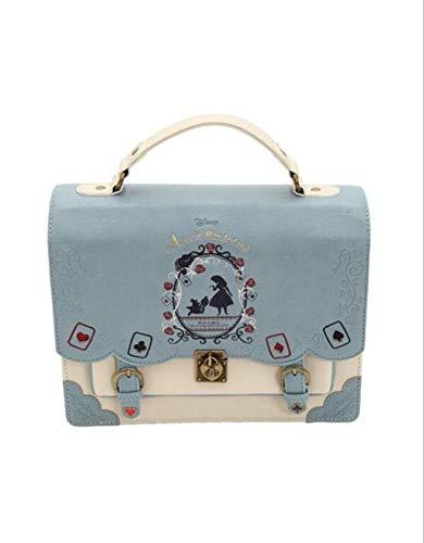 ZHM Women's Bag Alice in Wonderland Poker Cards Lolita Bag Backpack Women's Cross-Body Bag Small Square Bag Women's Handbags,Blue